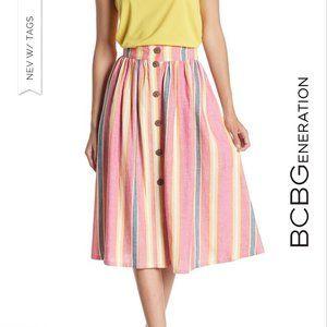 🌟NWT!! 🌟 BCBGeneration Button Front Midi Skirt